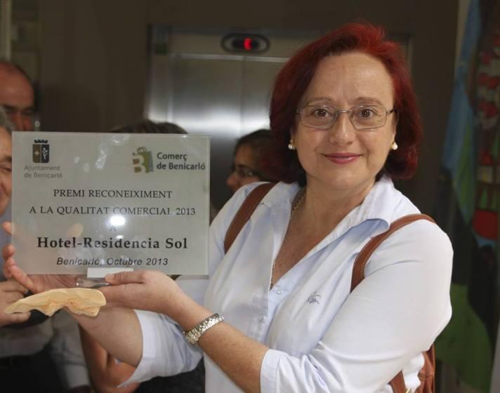 Hotel Sol, Benicarló,  Premiat amb la Qualitat Comercial, octubre de 2013