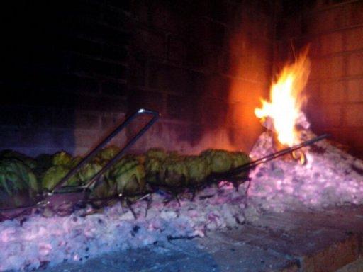 Parillada de alcachoas en la Barbacoa del Hotel Sol, Benicarló, de Francisco Rosado