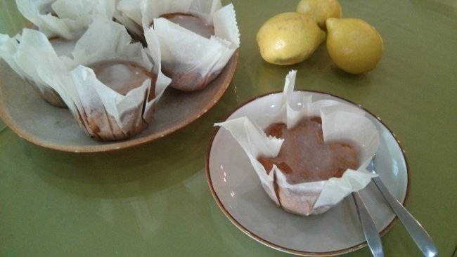 Madalenas de limon con glaseado de limon