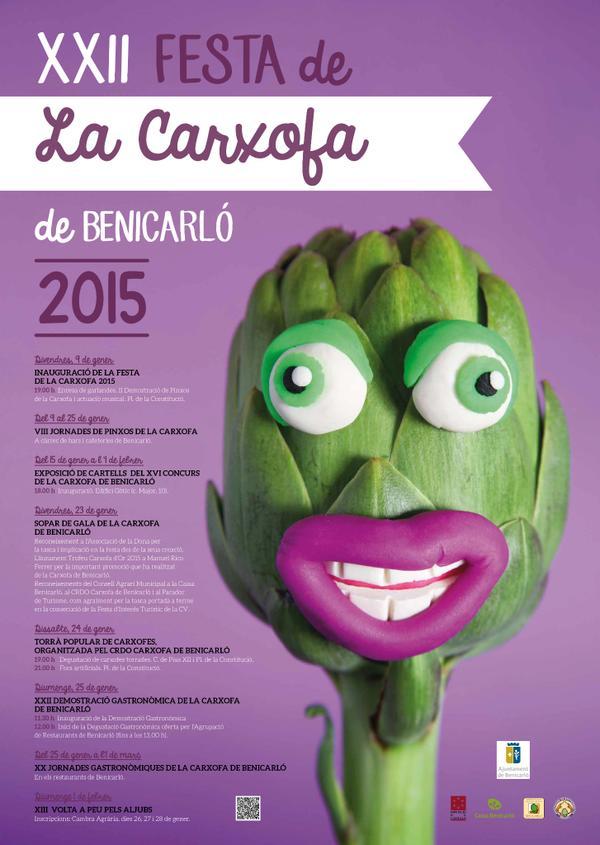 Cartel aunciador de la XXII Festa de la Carxofa 2015