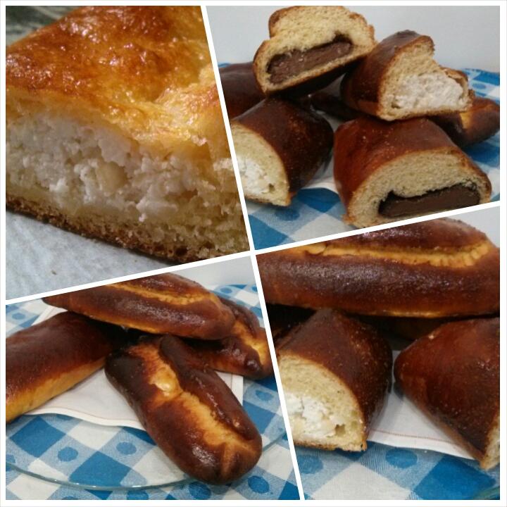 Farinosas rellenas de requeson, miel de romero y almendras y Farinosas rellenas de chocolate para los desayunos de Pascua del Hotel Sol