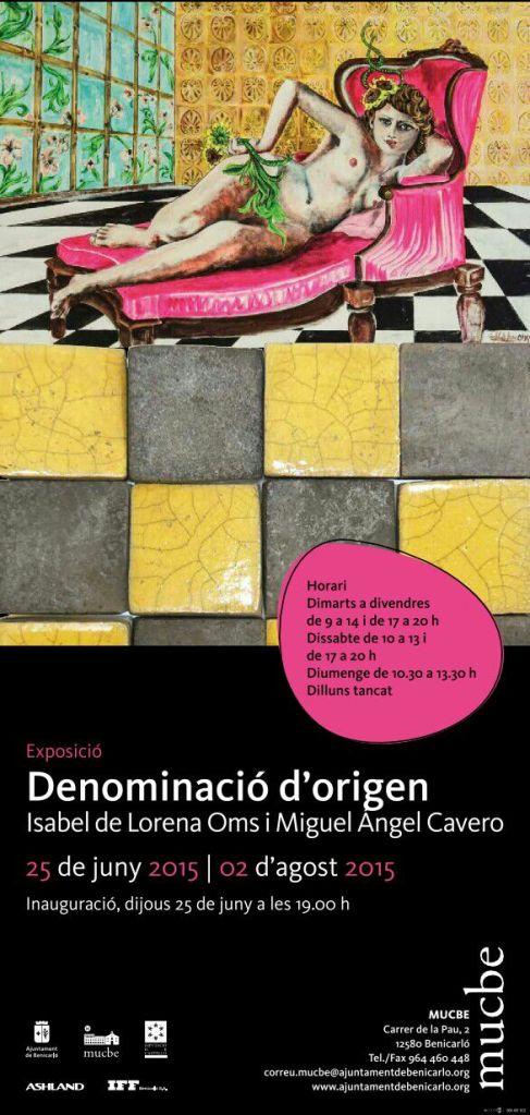 Exposición de pintura y cerámica en Benicarló, artistas Isabel de Lorena Oms i Miguel Angel Cavero