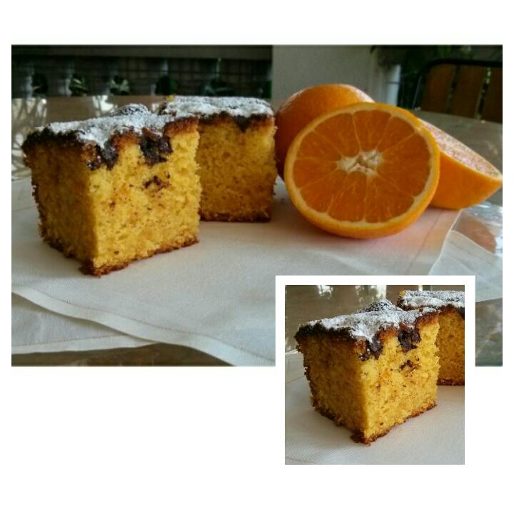 Bizcocho de naranja sin lactosa