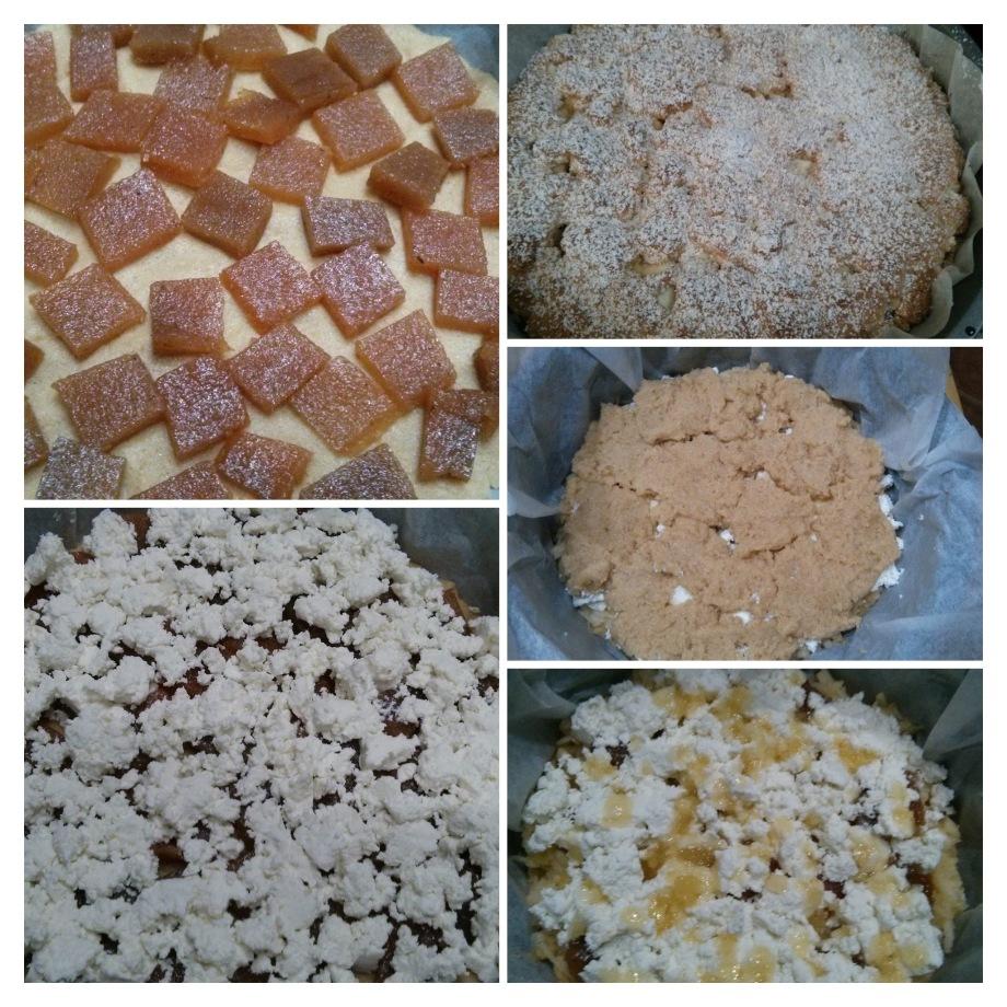 pastel de manzana, membrillo y requeson, desayunos del Hotel sol