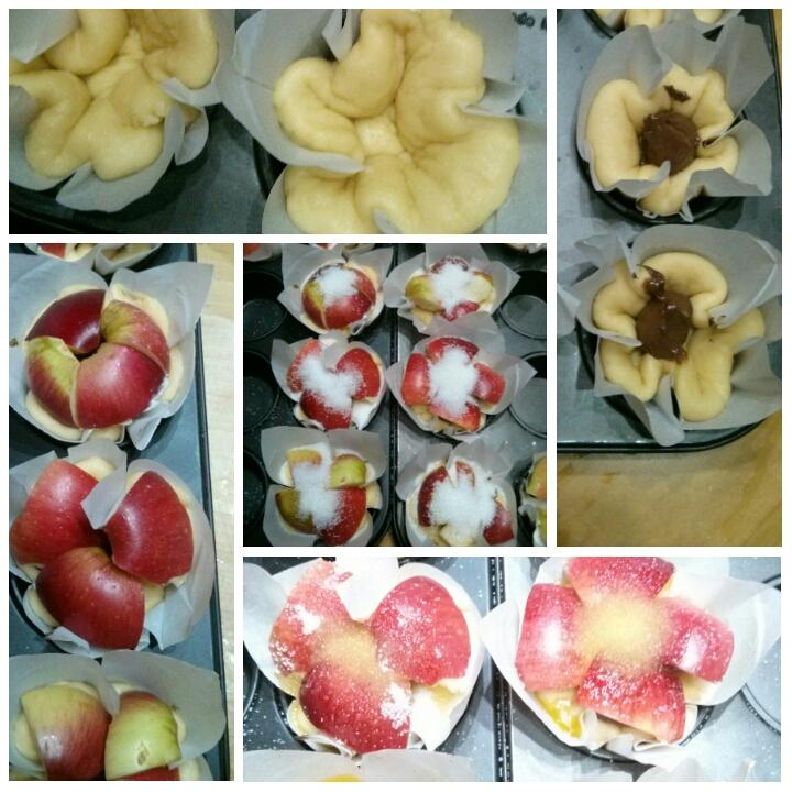 Brioche de manzana acida y crema de chocolate, en el desayuno del Hotel Sol de Benicarló