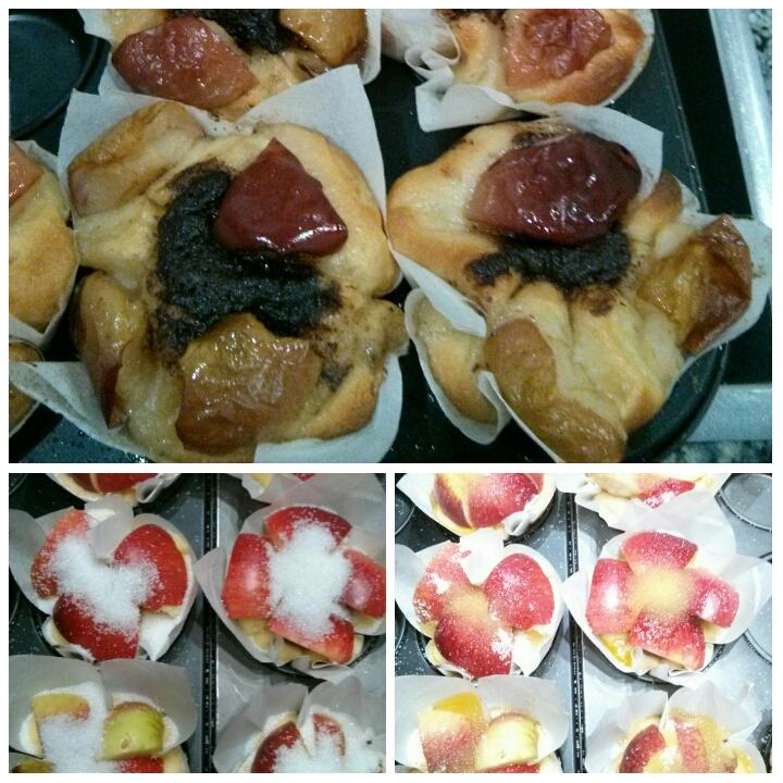Brioche de manzana acida y crema de chocolate para desayunar en el Hotel Sol de Benicartló